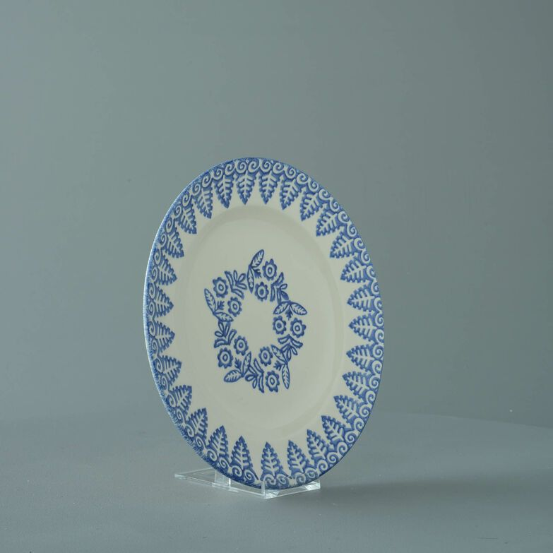 Plate Dessert Size Lacey Blue