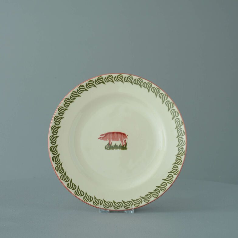 Plate Dessert Size Pink Pig