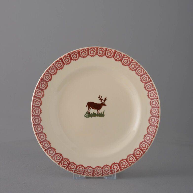 Plate Dessert Size Reindeer