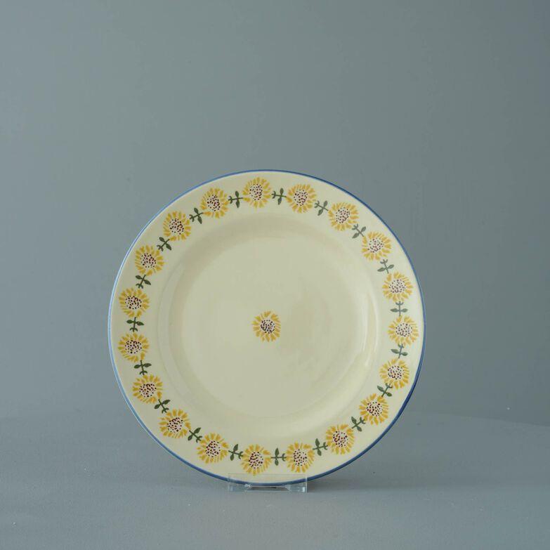 Plate Dessert Size Sunflower