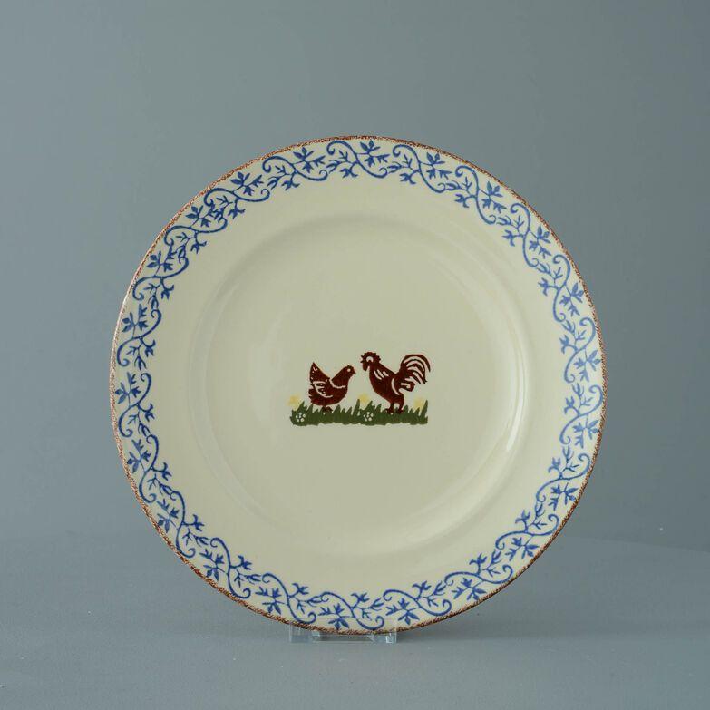 Plate Dinner Size Cock & Hen