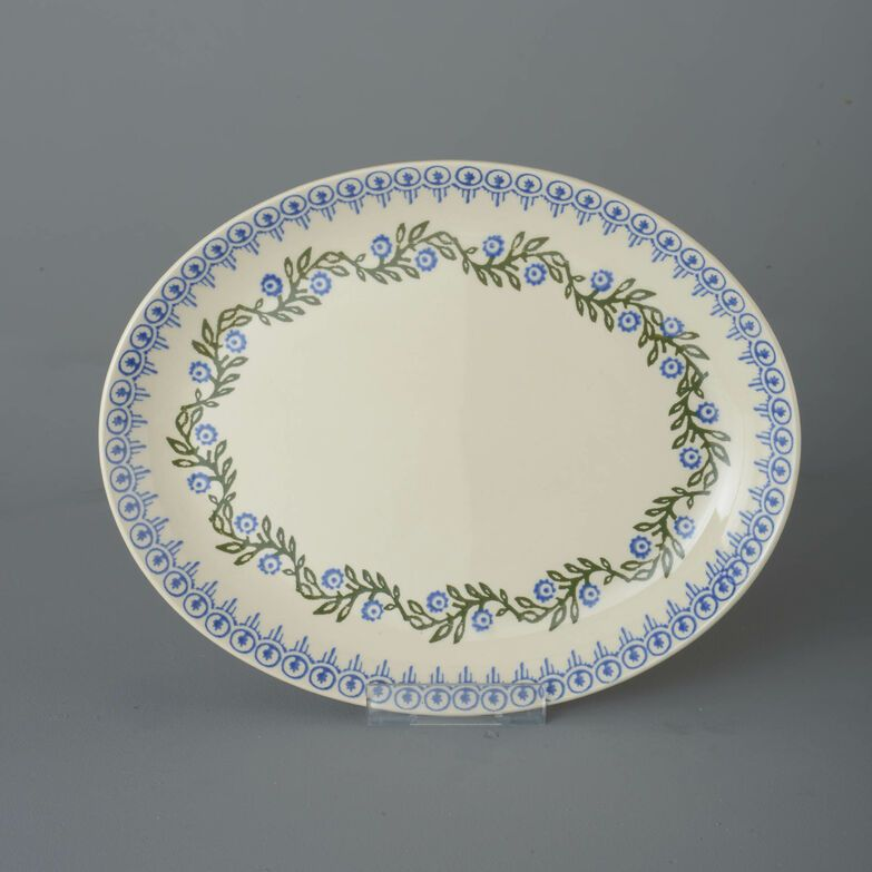 Oval Plate  Floral Garland