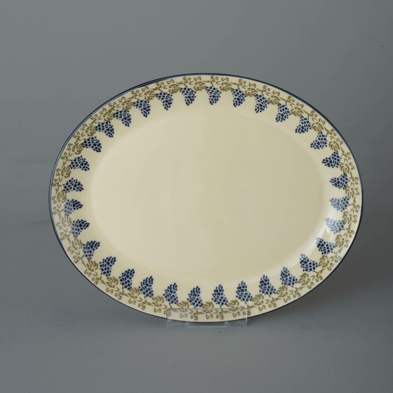 Oval Plate  Grapes And Vine