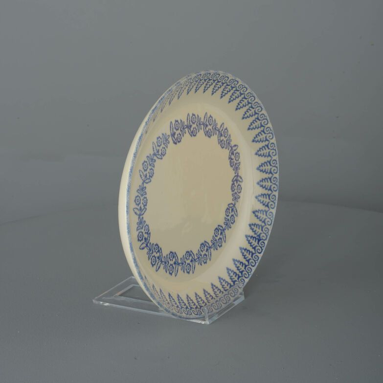 Oval Plate  Lacey Blue