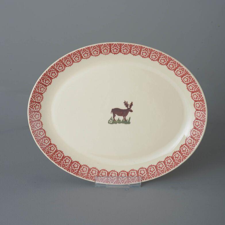 Oval Plate  Reindeer