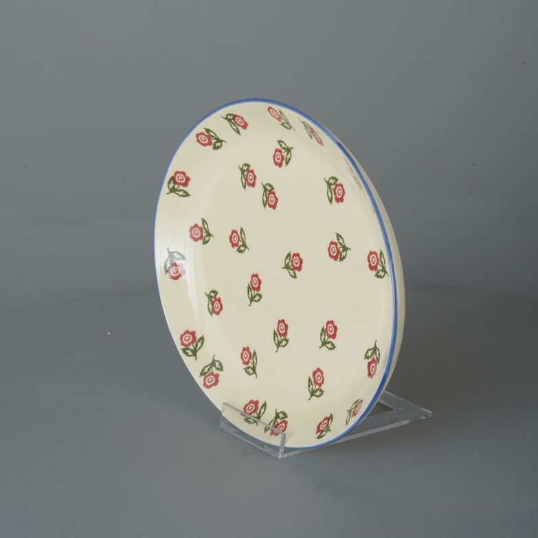 Oval Plate  Scattered Rose