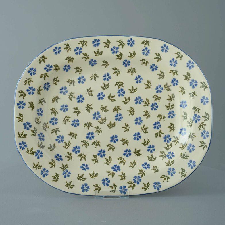 Plate Large rectangular serving Geranium
