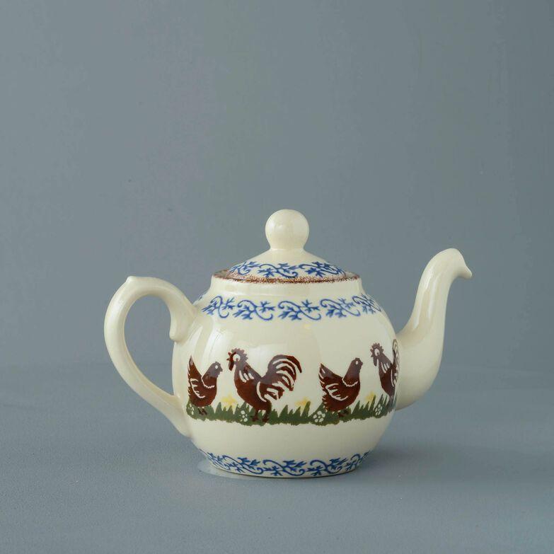 Teapot 2 Cup Cock & Hen