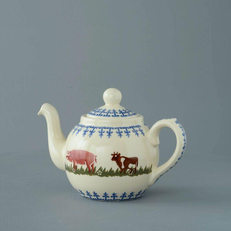 Teapot 2 Cup Farm Animal