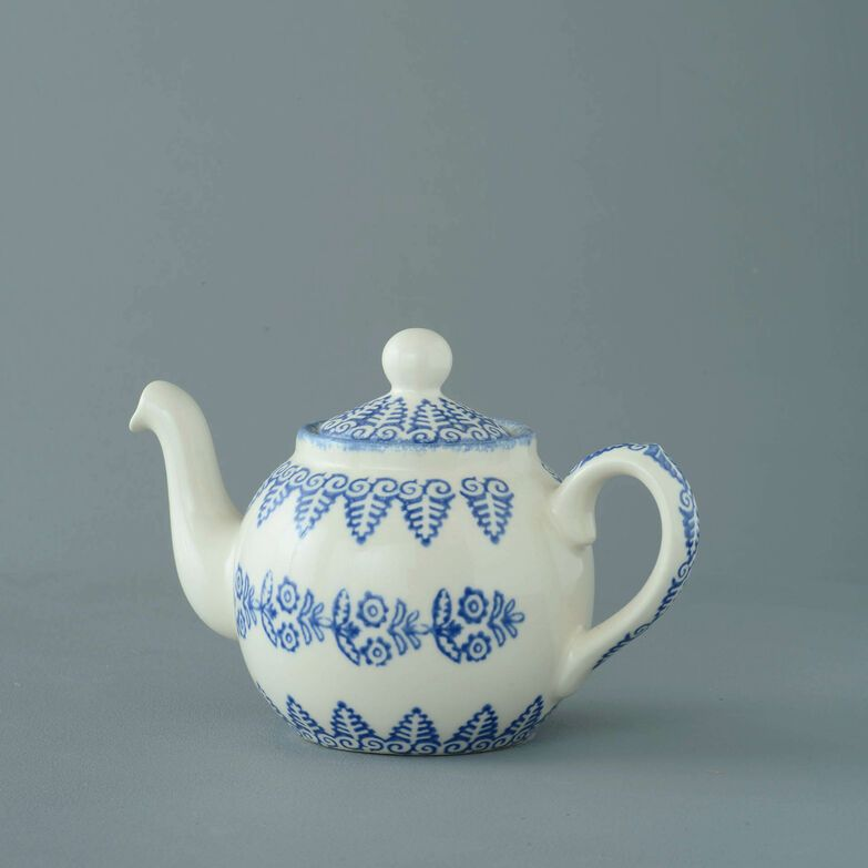 Teapot 2 Cup Lacey Blue