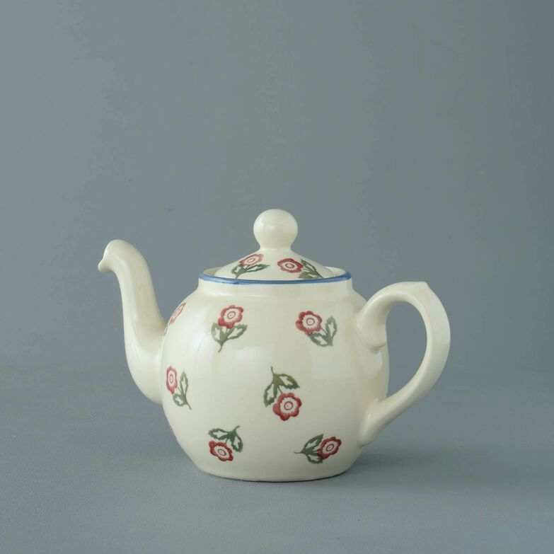 Teapot 2 Cup Scattered Rose