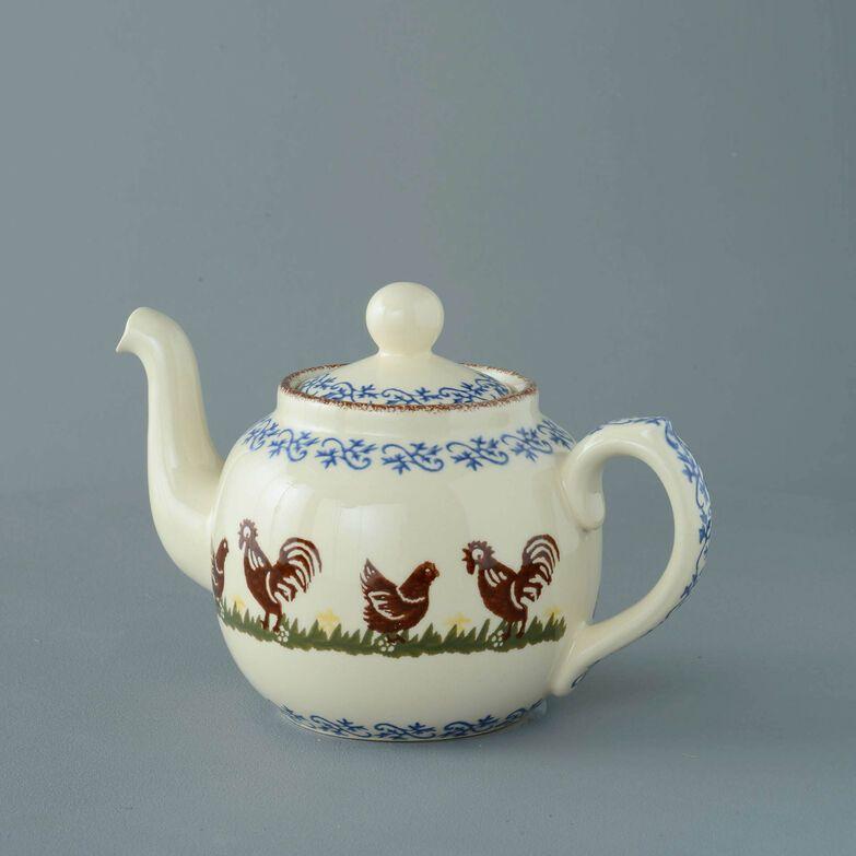 Teapot 4 Cup Cock & Hen