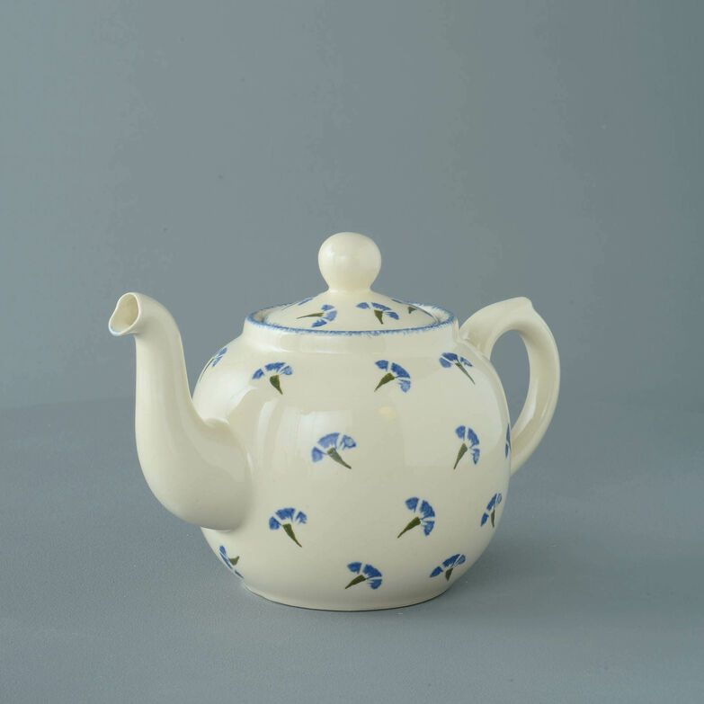 Teapot 4 Cup Cornflower