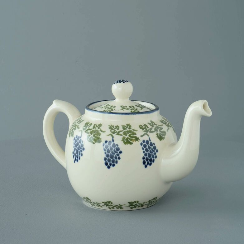 Teapot 4 Cup Grapes And Vine