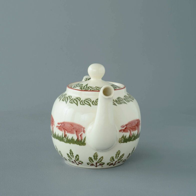 Teapot 4 Cup Pink Pig