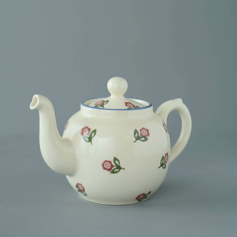 Teapot 4 Cup Scattered Rose