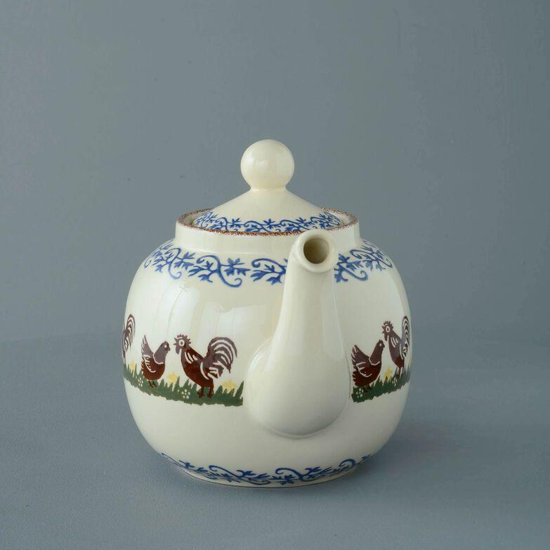 Teapot 10 Cup Cock & Hen