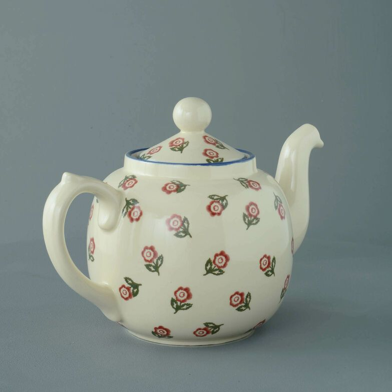 Teapot 10 Cup Scattered Rose