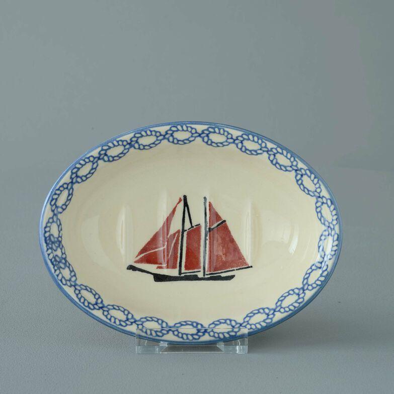 Soap dish oval Small Boat Sailing