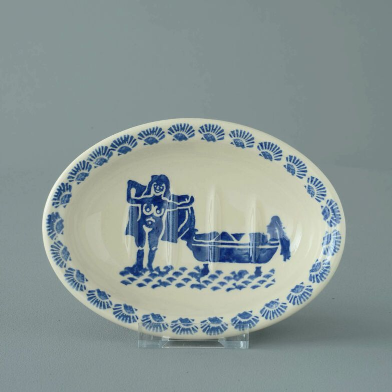 Soap dish oval Small Lady in the bath