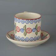 Snack Saucer & Mug Large Victorian Floral