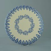 Plate Cheese & Cake Lacey Blue