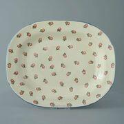 Plate Large rectangular serving Scattered Rose