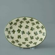 Soap dish oval Small Four leaf clover